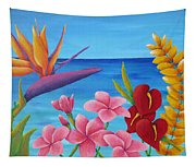 Tropical View Tapestry