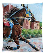 trotter standardbred Horse at the Little Brown Jug Tapestry