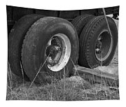 Truck Tires Tapestry