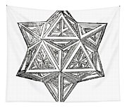 Truncated And Elevated Hexahedron With Open Faces Tapestry