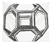 Truncated Octahedron With Open Faces Tapestry