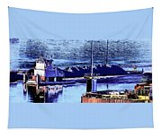 Tug Reflections Tapestry