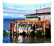 Tugboat At Rest Tapestry