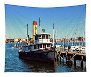 Tugboat Baltimore At The Museum Of Industry Tapestry