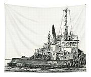 Tugboat David Foss Tapestry