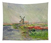 Tulip Field In Holland Tapestry