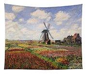 Tulip Fields With The Rijnsburg Windmill Tapestry