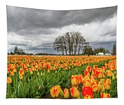 Tulip Rows Tapestry