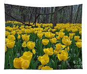 Tulips In The Woods Tapestry