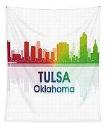 Tulsa Ok 1 Squared Tapestry