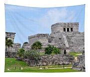 Tulum Mayan Ruins Tapestry