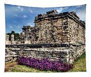 Tulum Temple Ruins Tapestry