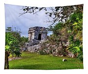 Tulum Watchtower Tapestry