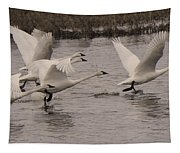 Tundra Swans Take Off Tapestry