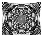 Tunnel Vision-black And White Tapestry