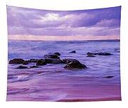 Turbulent Daybreak Seascape Tapestry