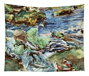 Turkish Woman By A Stream Tapestry