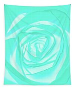 Turquoise Rose Tapestry