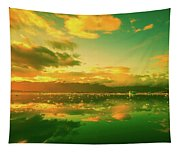 Turquoise Sunrise Tapestry