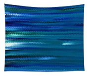 Turquoise Waves Tapestry