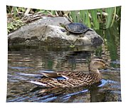 Turtle And Duck Tapestry