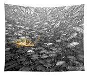 Turtle And Fish School Tapestry