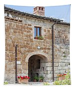 Tuscan Old Stone Building Tapestry