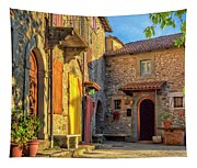 Tuscan Villa Early Morning Tapestry