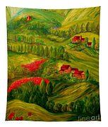 Tuscany At Dawn Tapestry