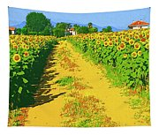 Tuscany Sunflowers Tapestry