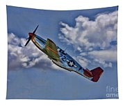 Tuskegee Mustang Red Tail Tapestry