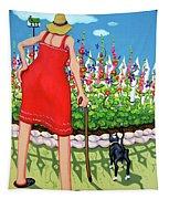 Tuxedo Cat - Edens Garden Tapestry