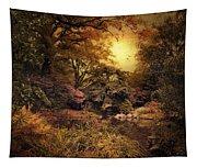 Twilight Autumn Garden Tapestry