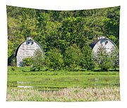 Twin Barns In Spring Tapestry