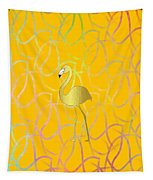 Twist And Turn Flamingo Tapestry