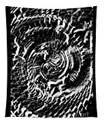 Twisted Gears Abstract Tapestry