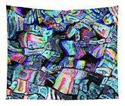 Twisted Text And Colors Tapestry
