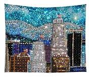 Los Angeles. Rhinestone Mosaic Beadwork Mix Tapestry