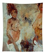 Two Black Sisters Tapestry