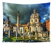 Two Churches And Columns Tapestry