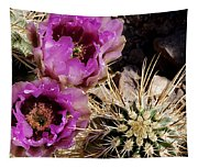Two Fucshia Blossoms  Tapestry