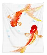 Two Goldfish Feng Shui Tapestry