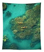 Two Kayakers Tapestry
