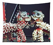 Two Lions Kung Fu Club Tapestry