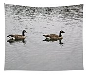 Two Lovely Canadian Geese Tapestry