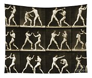 Two Men Boxing Tapestry