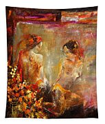 Two Nudes  Tapestry