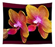 Two Orchids And A Bud Tapestry