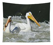 Two Pelicans At Horn Rapids Tapestry