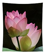 Two Pink Lotus Tapestry